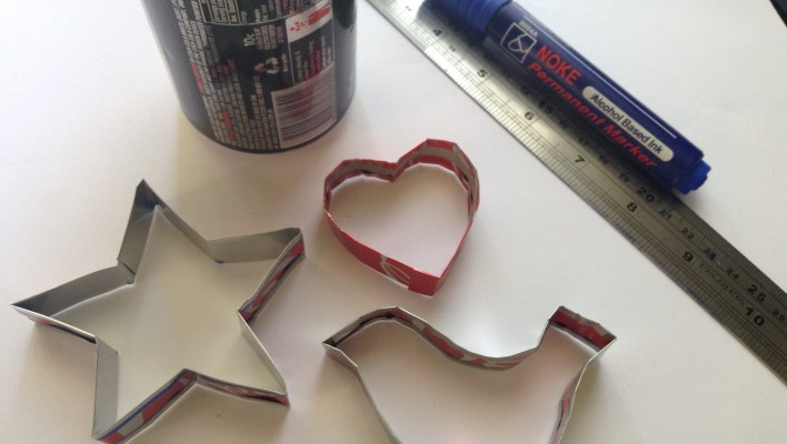 cookie cutter from soda cans