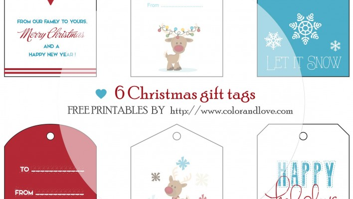 FREE PRINTABLES : Christmas Gift tags