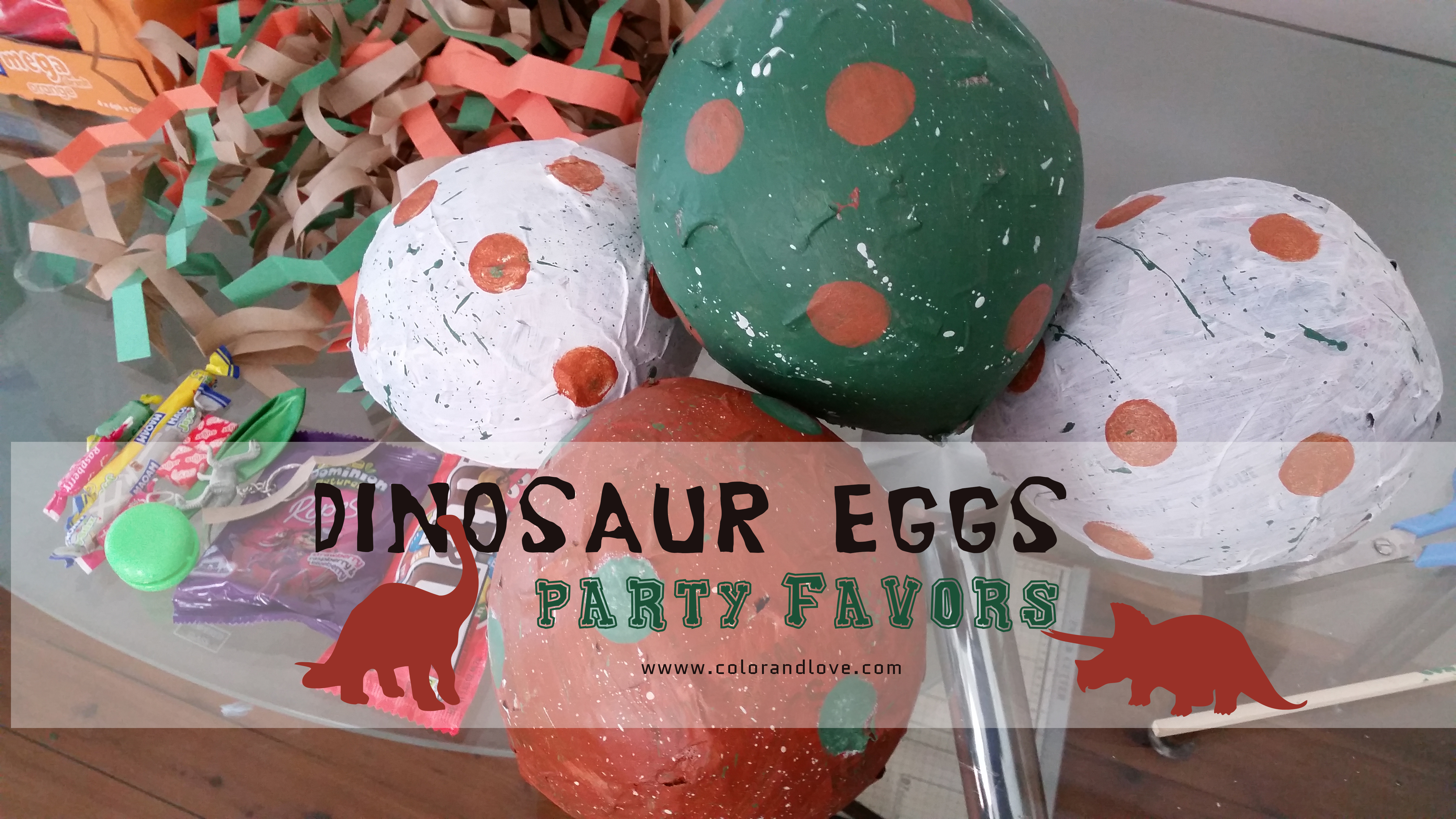 Make your own Dinosaur eggs – Party favors.
