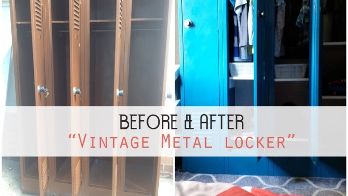 "BEFORE AND AFTER: ""Old metal cabinet Revamped"""