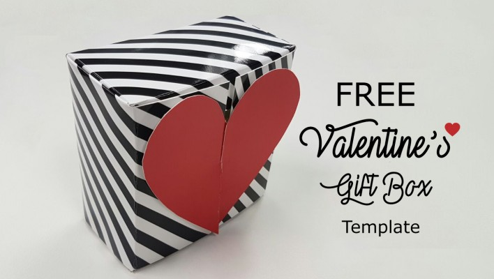 "FREE PRINTABLES: "" Valentines Gift Box Template"""